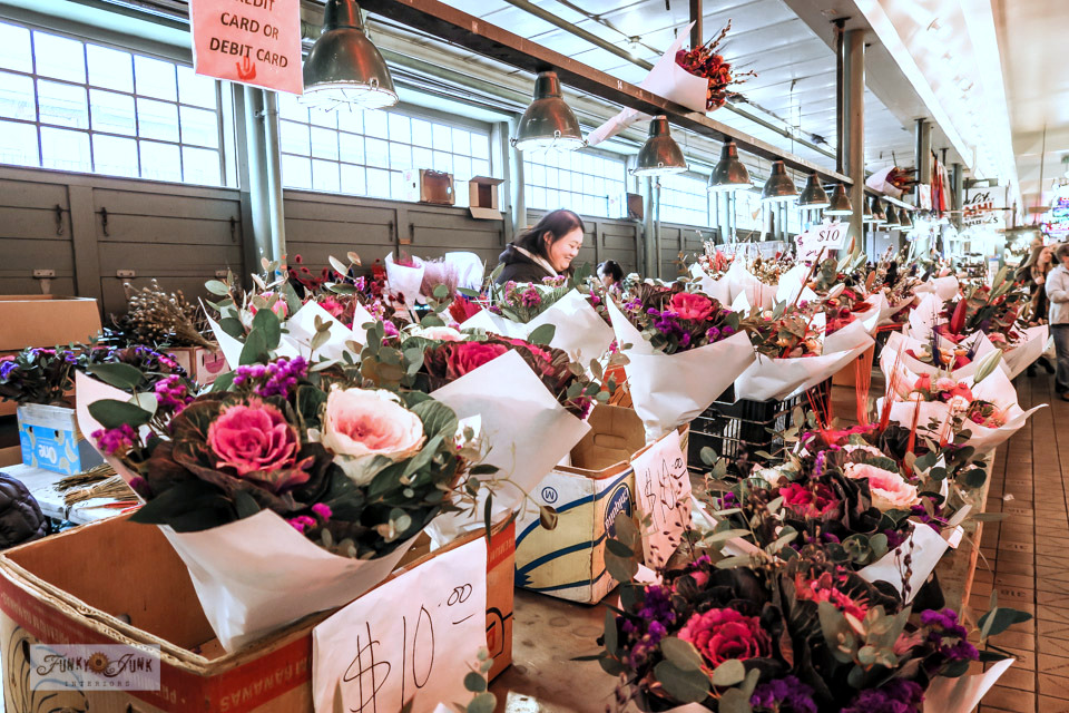 The most amazing fresh cut flowers at Pike Place Market in Seattle, Washington.