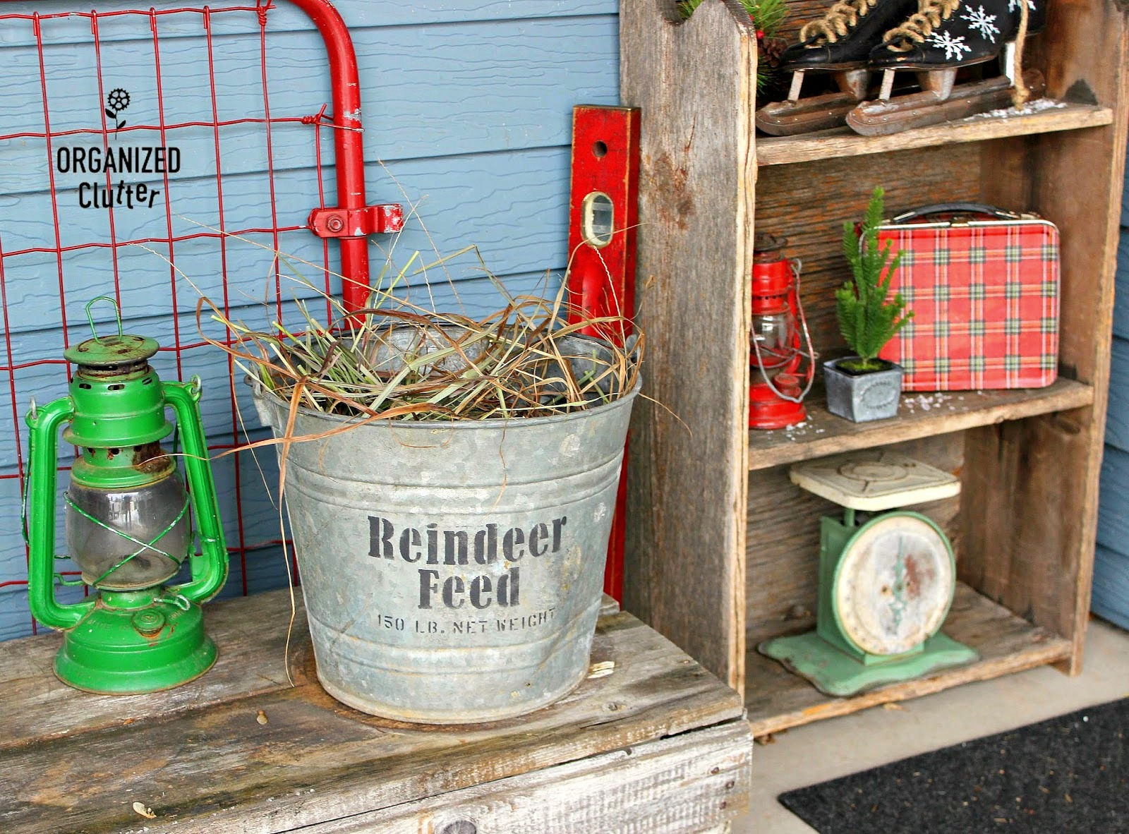 Reindeer Feed Christmas bucket by Organized Clutter, featured on Funky Junk Interiors