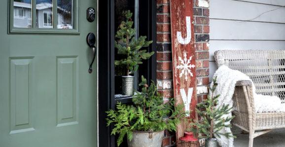 Joy rustic shiplap Christmas sign stencil