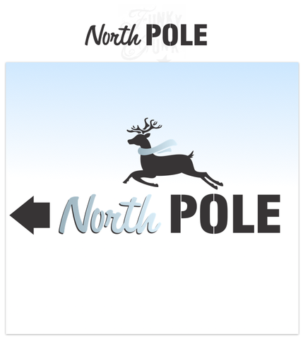 North Pole | Funky Junk's Old Sign Stencils