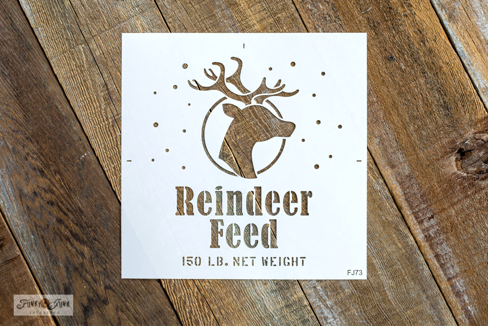 Reindeer Feed Christmas stencil | Funky Junk's Old Sign Stencils
