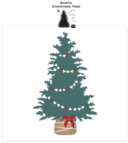 Rustic Christmas Tree stencil | Funky Junk's Old Sign Stencils