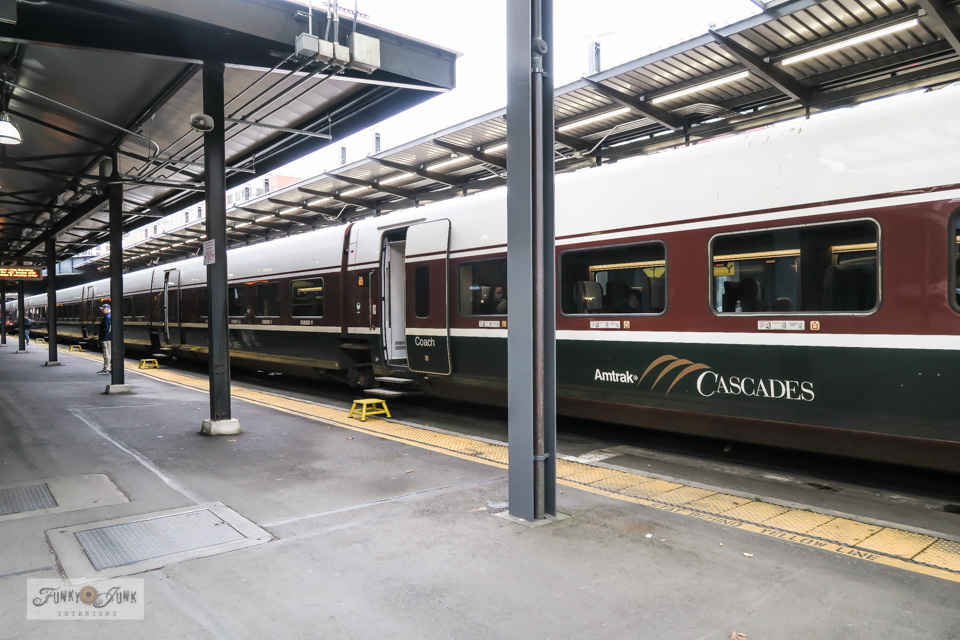 The Amtrak train from Vancouver to King Street Station in Seattle, Washington
