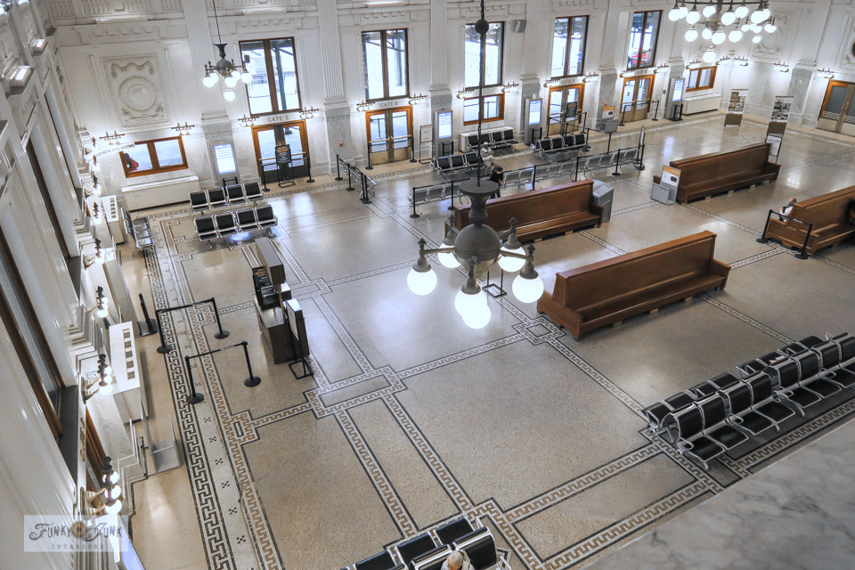 Take a tour of the gorgeous train station at King Street Station in Seattle, Washington.