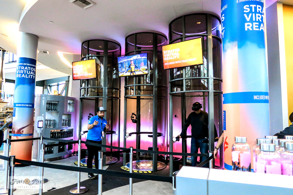 Try out the virtual bungee jump off the Space Needle! Free with a Space Needle ticket located in the Space Needle lobby. Fun and just a little bit scary...