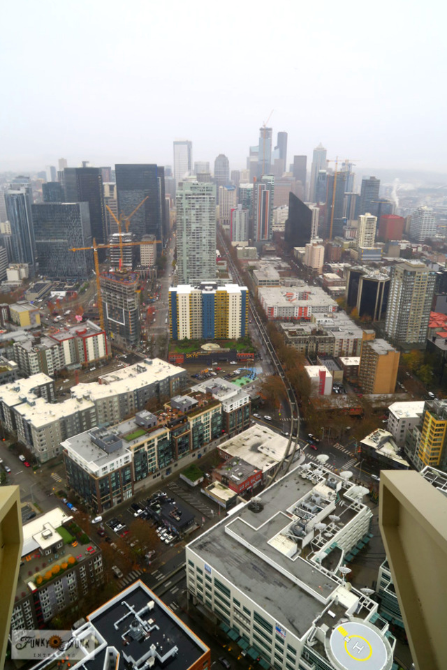 View Seattle from on top of the Space Needle! Outstanding city views from all sides.
