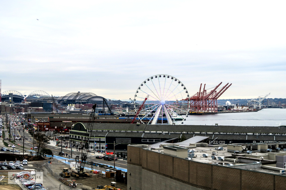 The waterfront attractions at Seattle, Washington.
