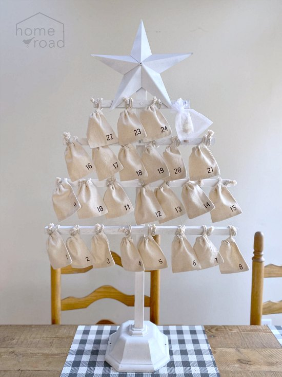 Advent calendar Chrsitmas tree by Homeroad, featured on Funky Junk Interiors