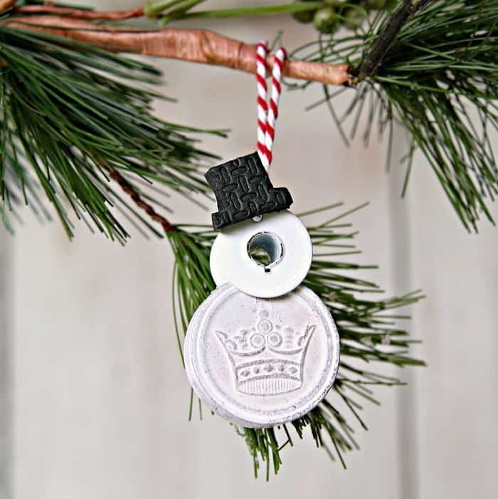 Junk snowmen ornaments by Petticoat Junktion, featured on Funky Junk Interiors