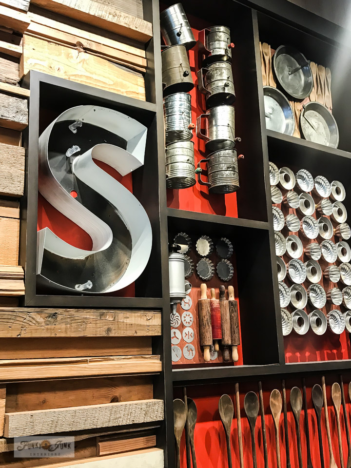 Take a tour of Specialty's antique kitchen utensil wall art, located in Seattle Washington. Great food with gorgeous decor!