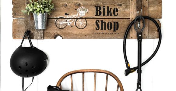Bike Shop sign stencils