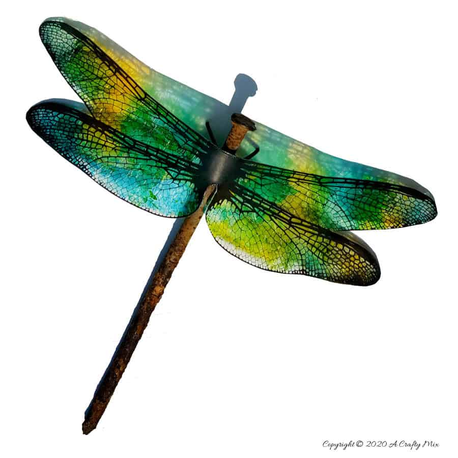 Translucent dragonflies by A Crafty Mix, featured on DIY Salvaged Junk Projects 520, at Funky Junk!