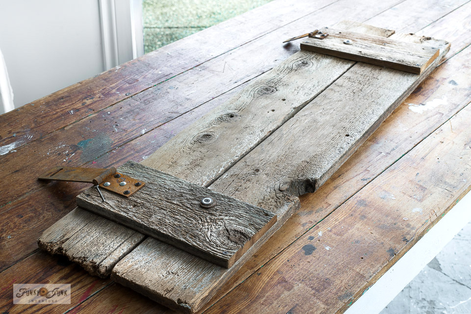 How to make a sign from reclaimed wood fence planks.