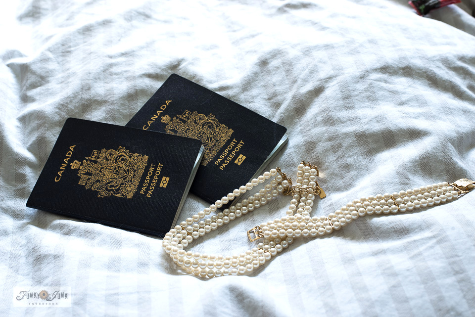 Passports and fake pearls - part of cleaning accessories, valuables and windows Wk 8 of the Marie Kondo cleaning challenge!