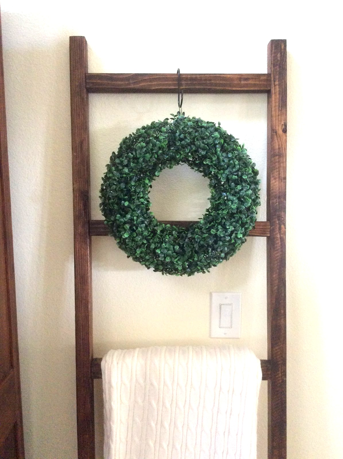 Faux boxwood wreath by Fresh Vintage by Lisa S, featured on DIY Salvaged Junk Projects 518 on Funky Junk!