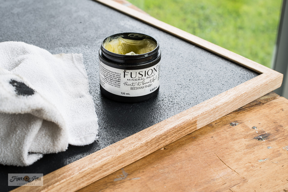 Learn how Fusion's Beeswax seals paint to help protect surfaces! #fusionmineralpaint #furniturepaint #paint