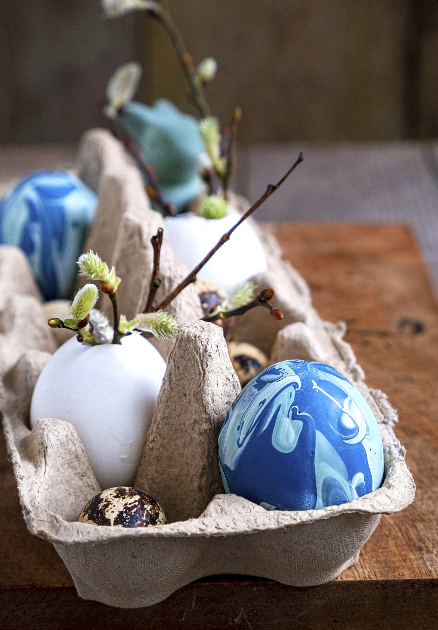Paint dipped Easter eggs by Elsa R Blog, featured on DIY Salvaged Junk Projects 513 on Funky Junk!