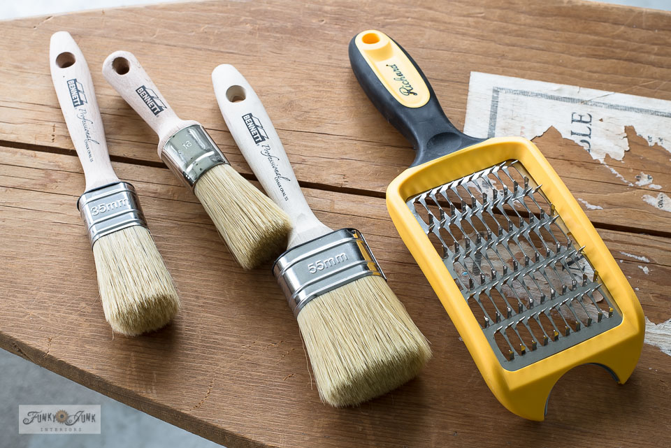 Quality Bennett Professional paint brushes and a brush cleaner tool from Canadian Tire in Canada.
