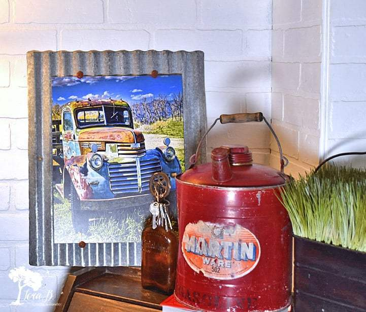Vintage photo print art frames by Lora B, featured on DIY Salvaged Junk Projects 529 on Funky Junk!