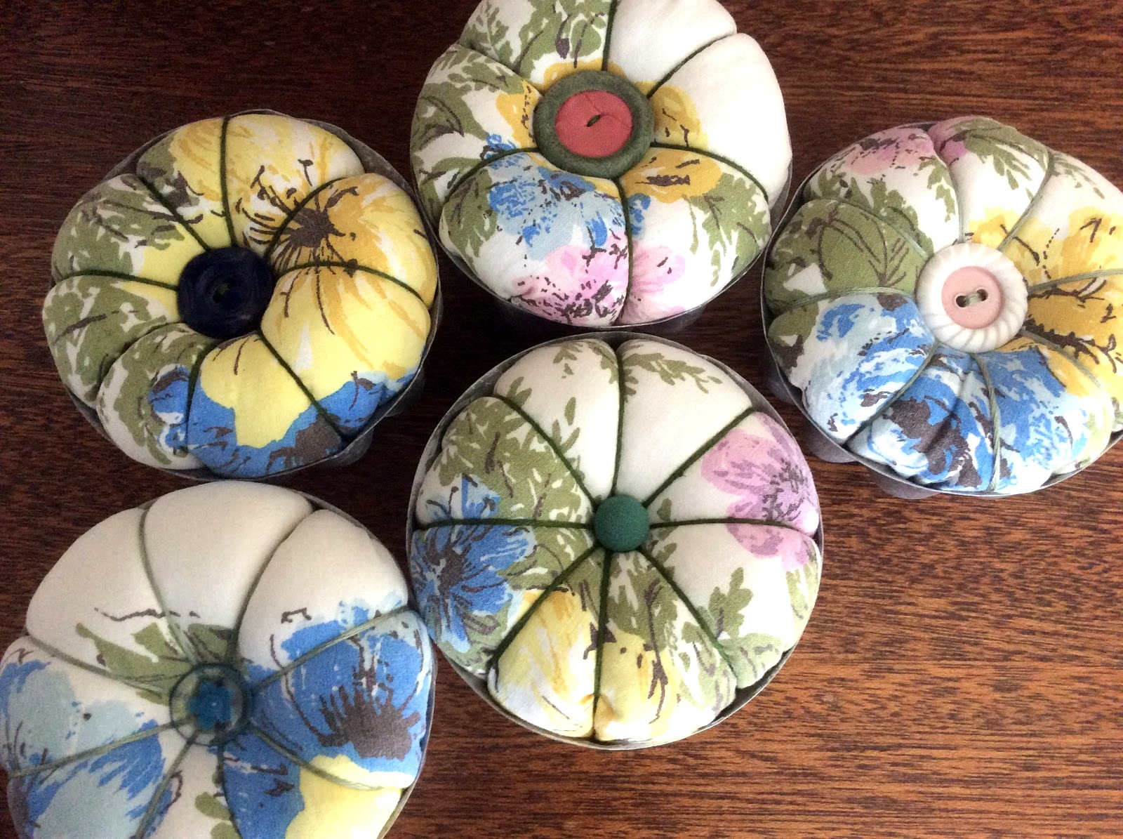 Jello mold pincushion by Fresh Vintage By Lisa S, featured on DIY Salvaged Junk Projects 527 on Funky Junk!