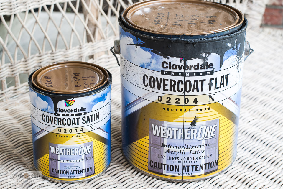 Find out my fav blackiish-brown house trim and front door colour for my home. By Cloverdale Paint in Canada. Click for custom colours.