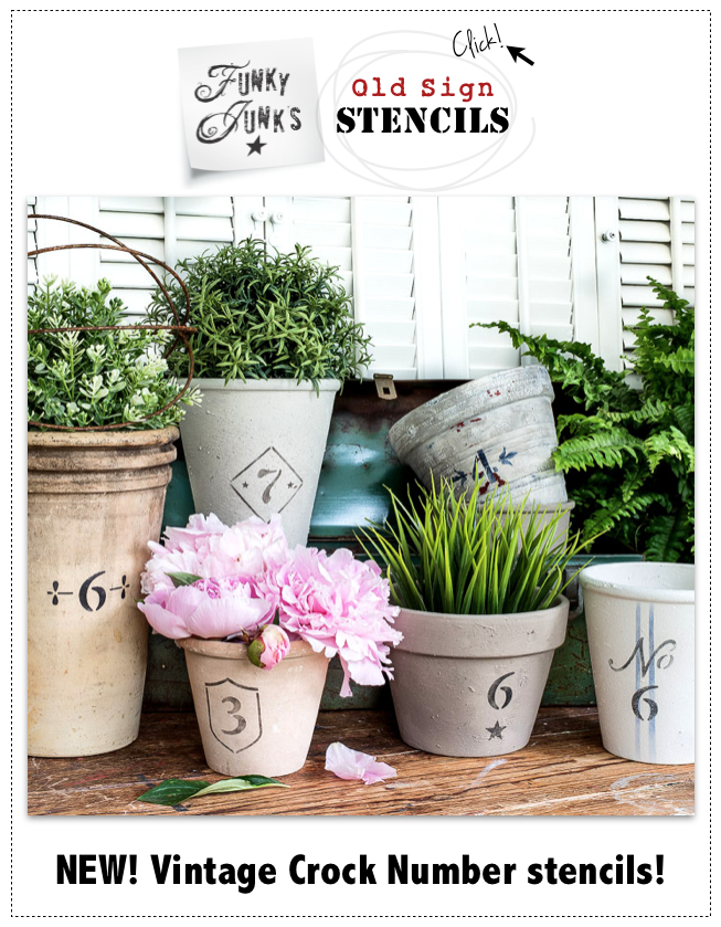 New! Vintage Crock Number stencils! Click to visit the store.