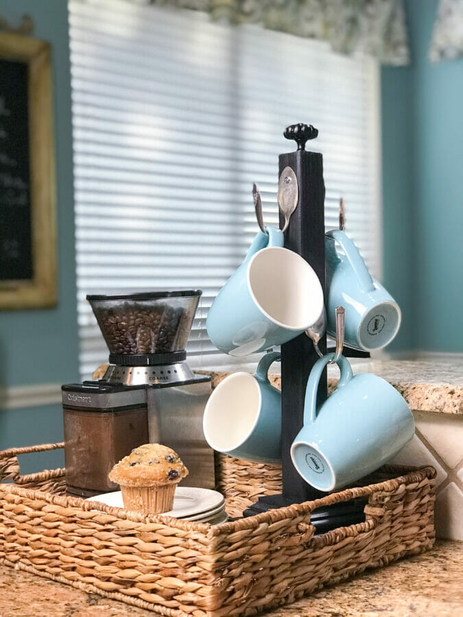 Spoon coffee cup hooks by Country Road 407, featured on DIY Salvaged Junk Projects 538 on Funky Junk!