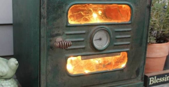 old stove turned light