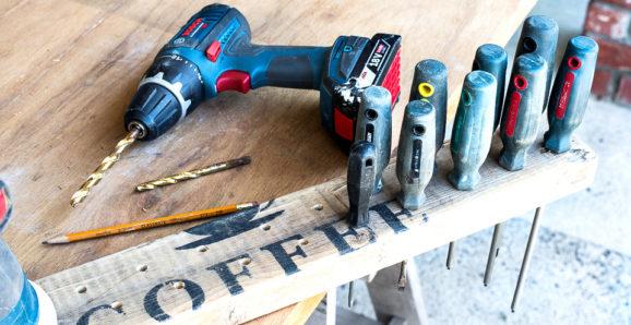 workshop wood screwdriver organizer