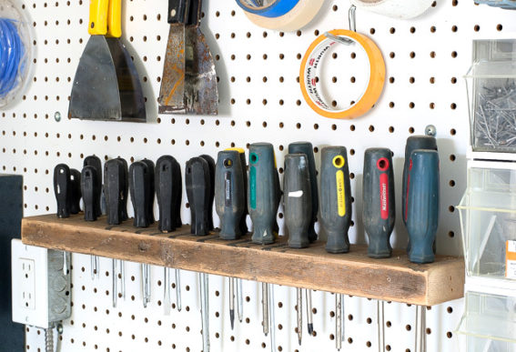 workshop wood screwdriver organizer