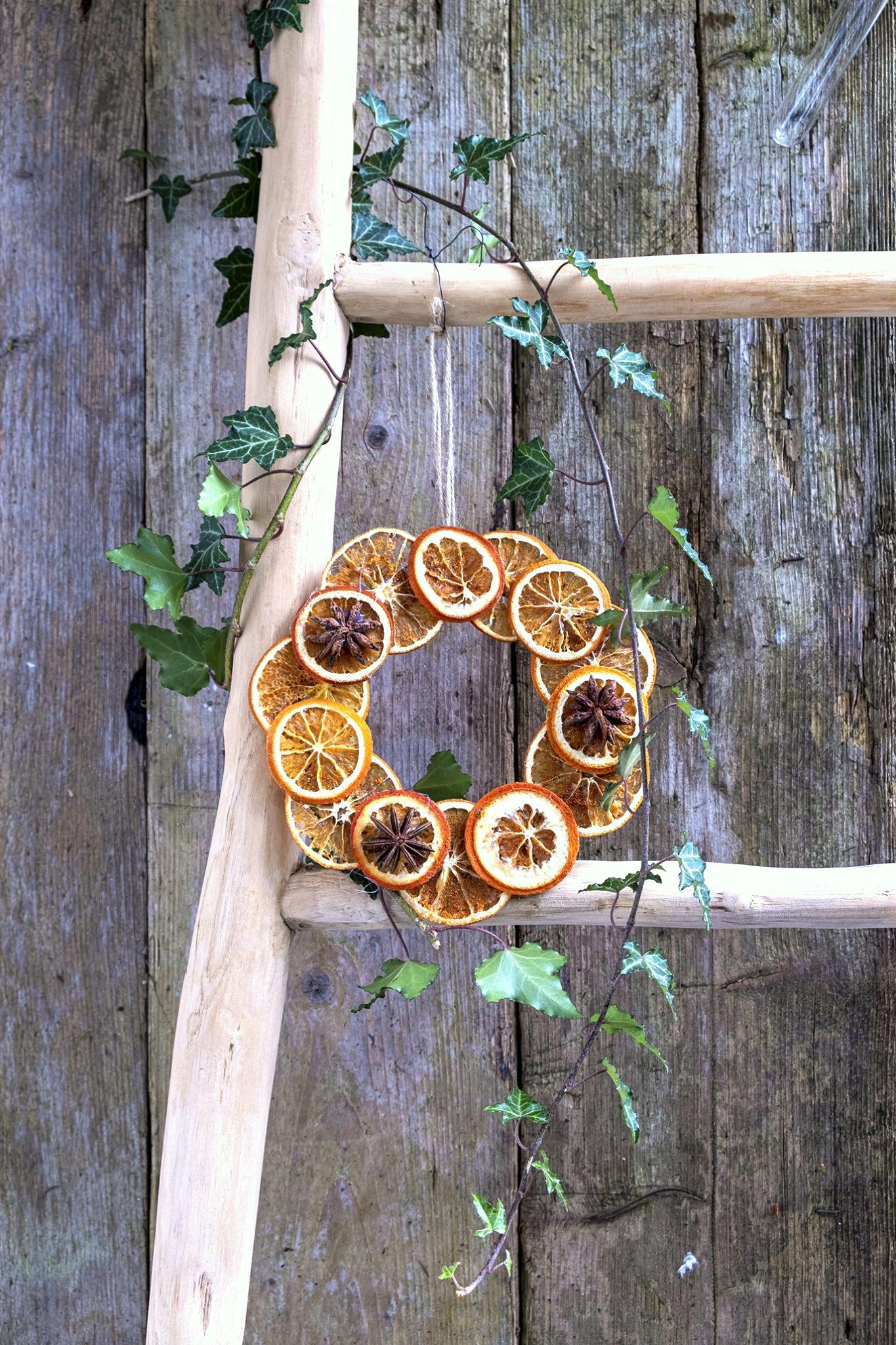 Dried orange wreath by Elsa R Blog, featured on DIY Salvaged Junk Projects 539 on Funky Junk!