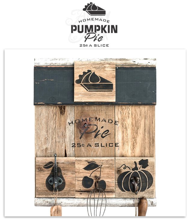 Click HERE to shop for the Homemade Pumpkin Pie fall stencil from Funky Junk's Old Sign Stencils!