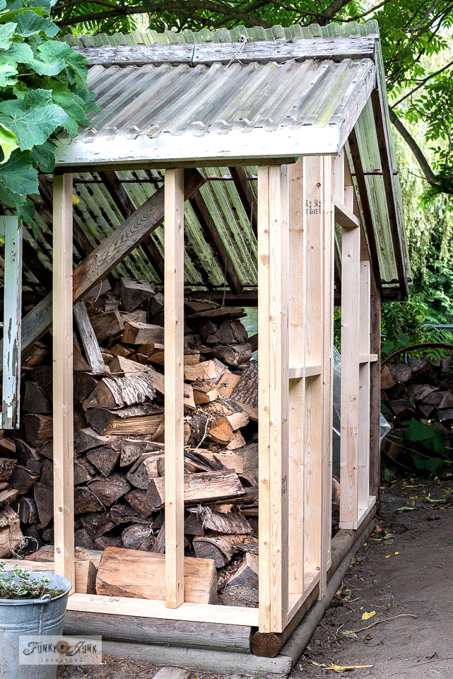 Framing a shed with door making tips! This post includes how to save an old shed by adding new framing, how to build a door from scratch and valuable beginner framing tips, including a video. Click for the full tour and tutorial! #woodworking #framing #building #shed #sheshed