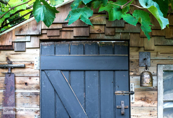 shed barn door rusty junk hardware