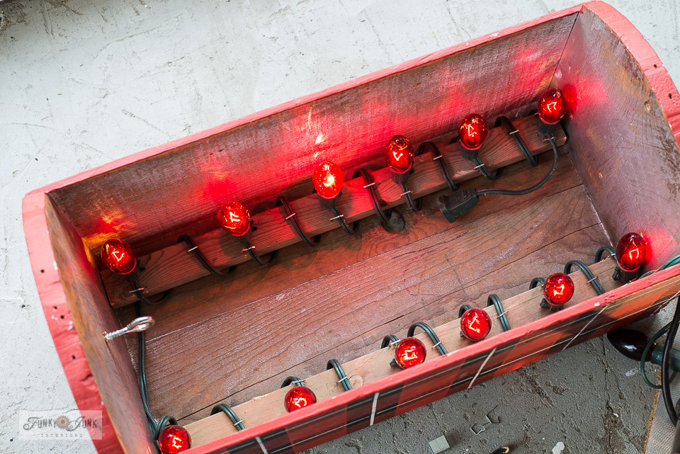 Learn how to insert light bars into a crate to DIY a hummingbird feeder heater to keep the nectar from freezing!