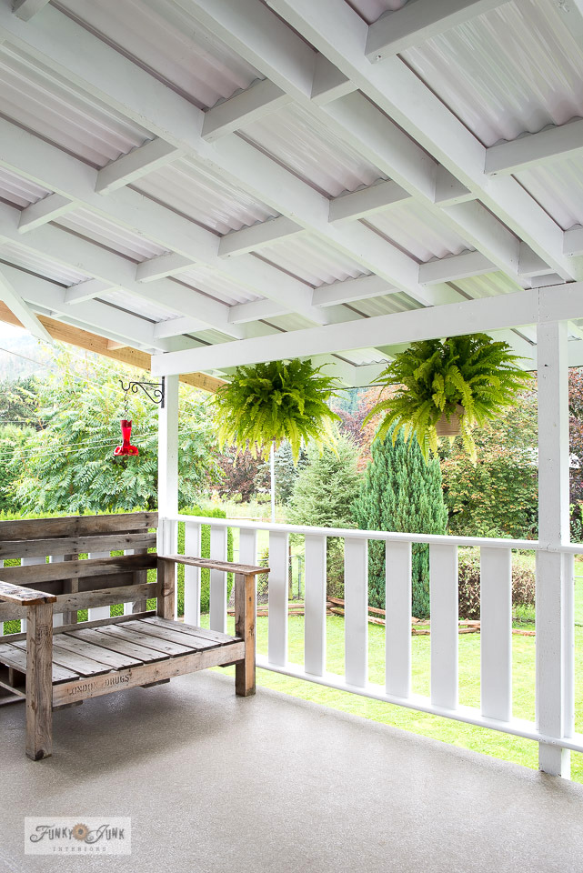 Replacing a PVC patio roof with a stunning plantation vibe by Funky Junk Interiors