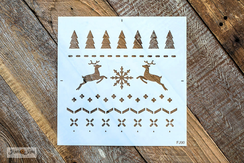 Christmas Sweater stencil | Funky Junk's Old Sign Stencils for fast and easy coverage for DIY projects!