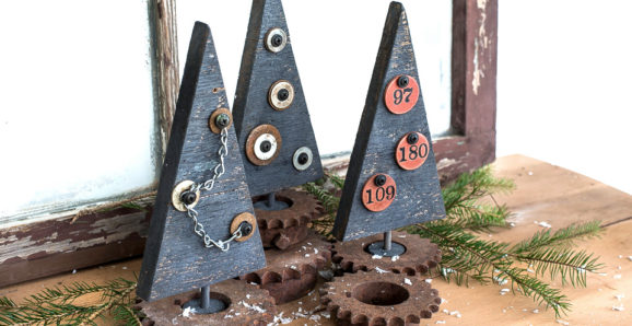 Industrial wood Christmas trees