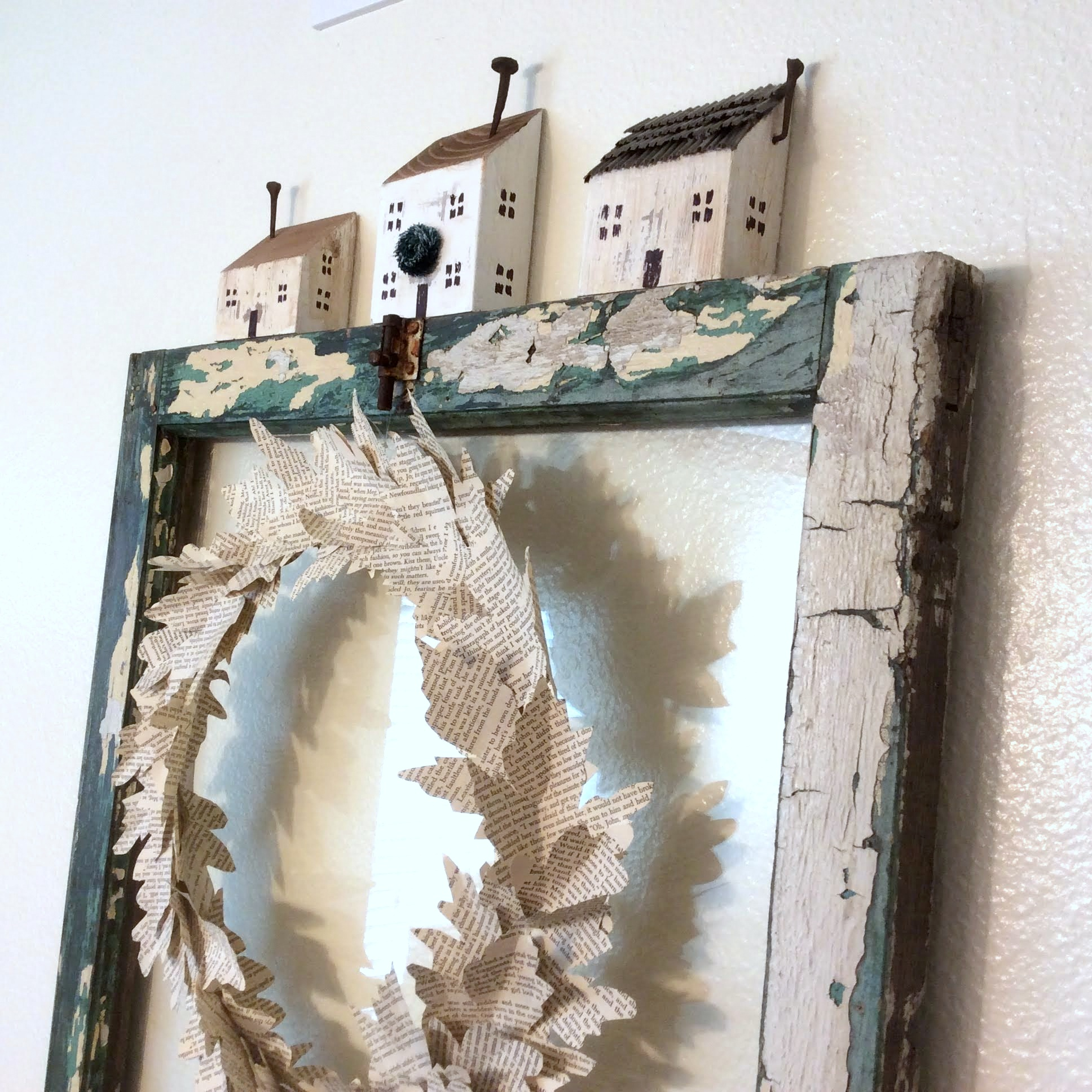Wood scrap houses by Fresh Vintage By Lisa S, featured in DIY Salvaged Junk Projects 557 on Funky Junk!