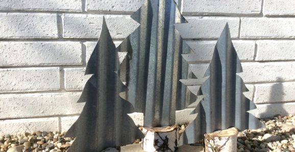 Clad metal siding Christmas Trees by Fresh Vintage By Lisa S