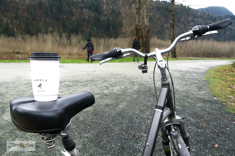 A delicious Amble Coffee is always a treat during a winter bike ride adventure! Located at Vedder Park in Chilliwack, BC.
