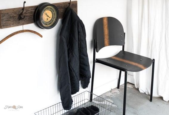 grain sack striped chair