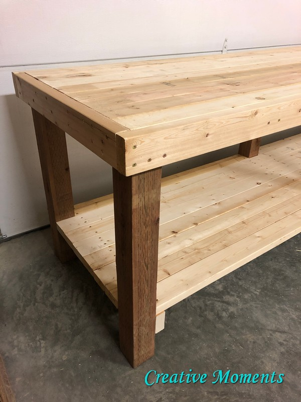 2x4 custom workbench plans by Creative Moments, featured on DIY Salvaged Junk Projects 565 on Funky Junk!