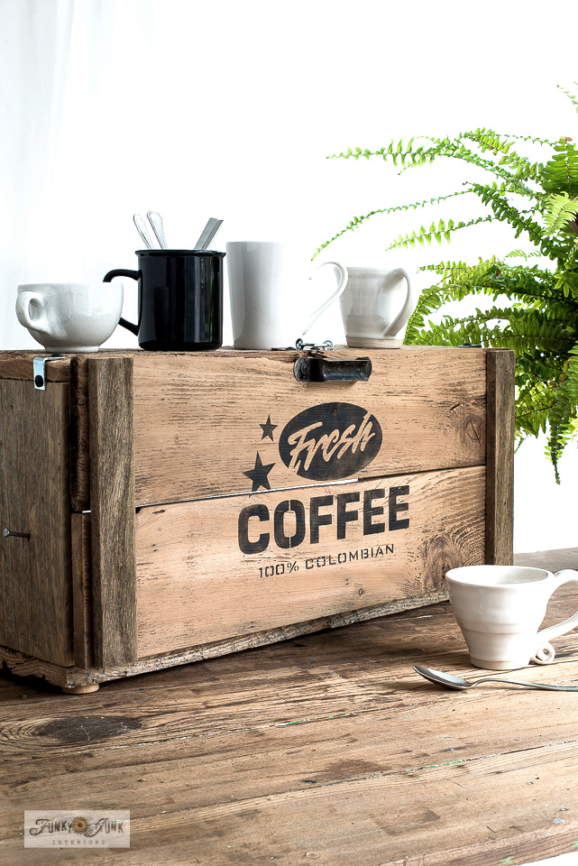 Rustic Fresh Coffee appliance garage by Funky Junk Interiors
