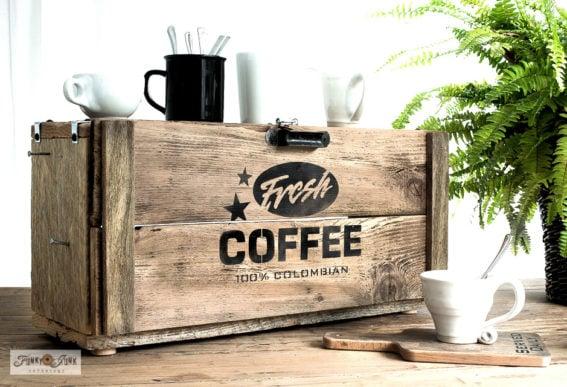 Rustic Fresh Coffee appliance garage