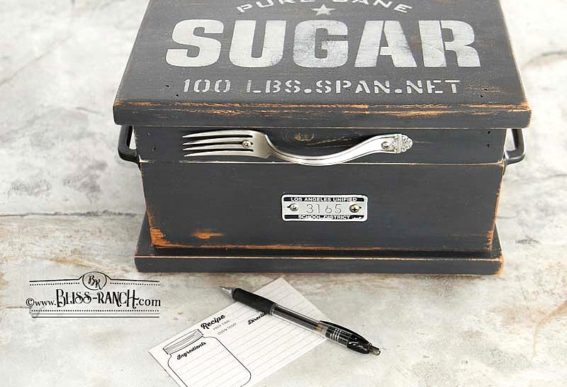 Sugar recipe box
