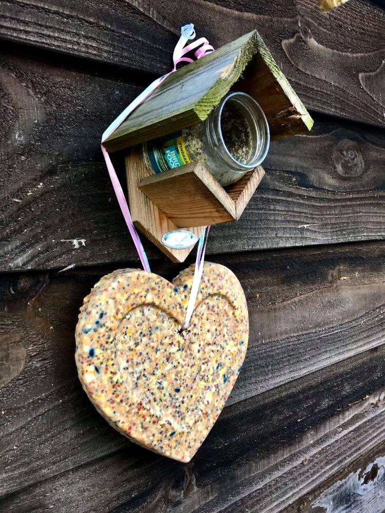Homemade bird suet by Howling at the Moon, featured on DIY Salvaged Junk Projects 564 on Funky Junk!