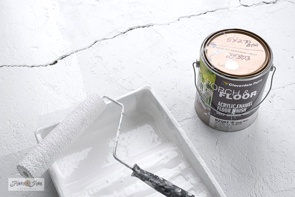 How to paint a concrete floor white