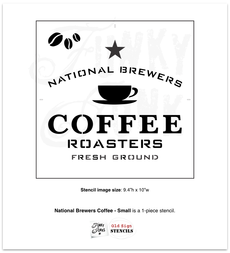 National Brewers Coffee - Small stencil by Funky Junk's Old Sign Stencils