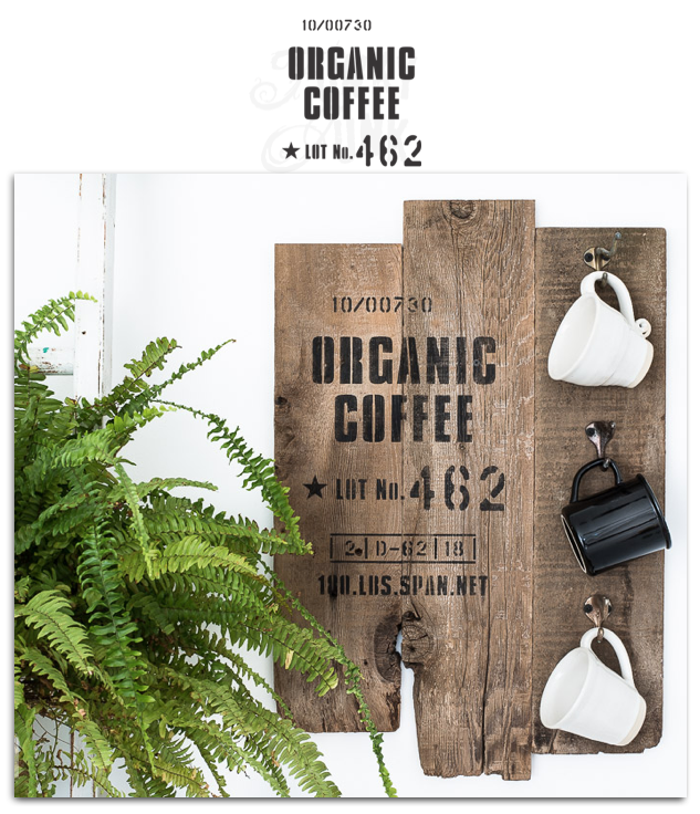 Organic Coffee stencil by Funky Junk's Old Sign Stencils